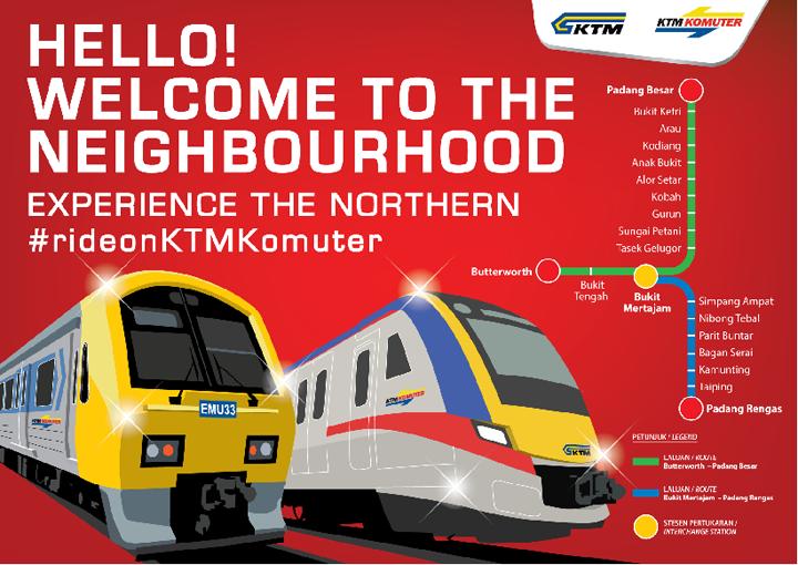 Jadual Perjalanan KTM Komuter Utara Terkini Mulai 18 November 2017