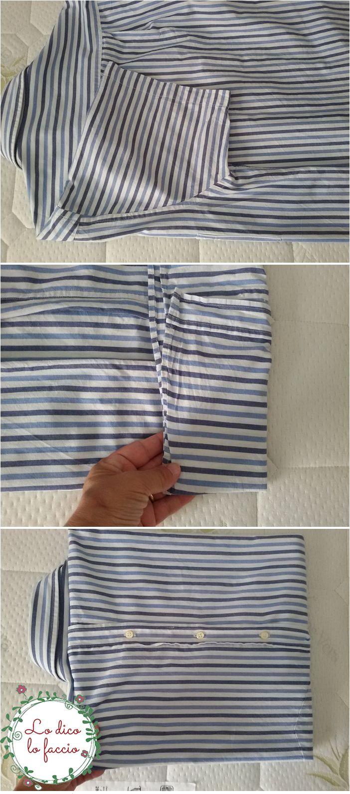 come piegare la camicia in valigia