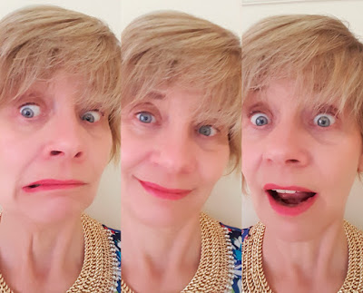 Amusing image montage of over-40s blogger Gail Hanlon who fronts Is This Mutton