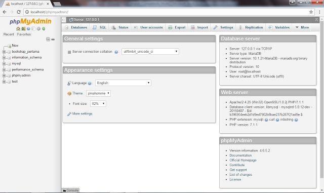 Cara Membuka / Mengakses phpMyAdmin dari Browser