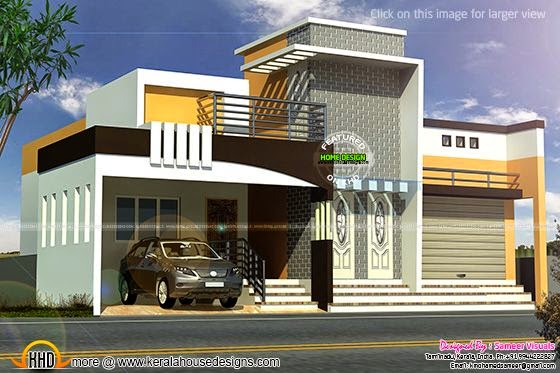February 2015 - Kerala home design and floor plans - 1230 sq-ft Tamilnadu house