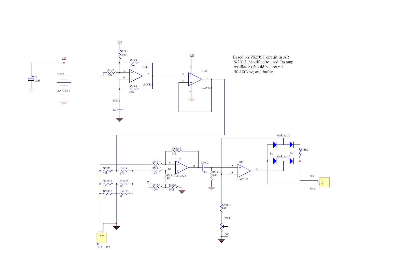 Esr Meter Circuit Diagram | Homebrew For Hams Esr Meter For Testing Capacitors