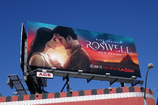 Roswell New Mexico CW series billboard