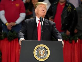 POTUS Donald Trump in Whitehouse. PHOTO   CNN