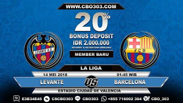 Prediksi Bola Levante VS Barcelona 14 Mei 2018