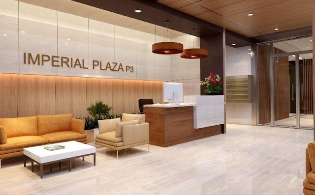 Sảnh đón tiếp chung cư Imperial Plaza