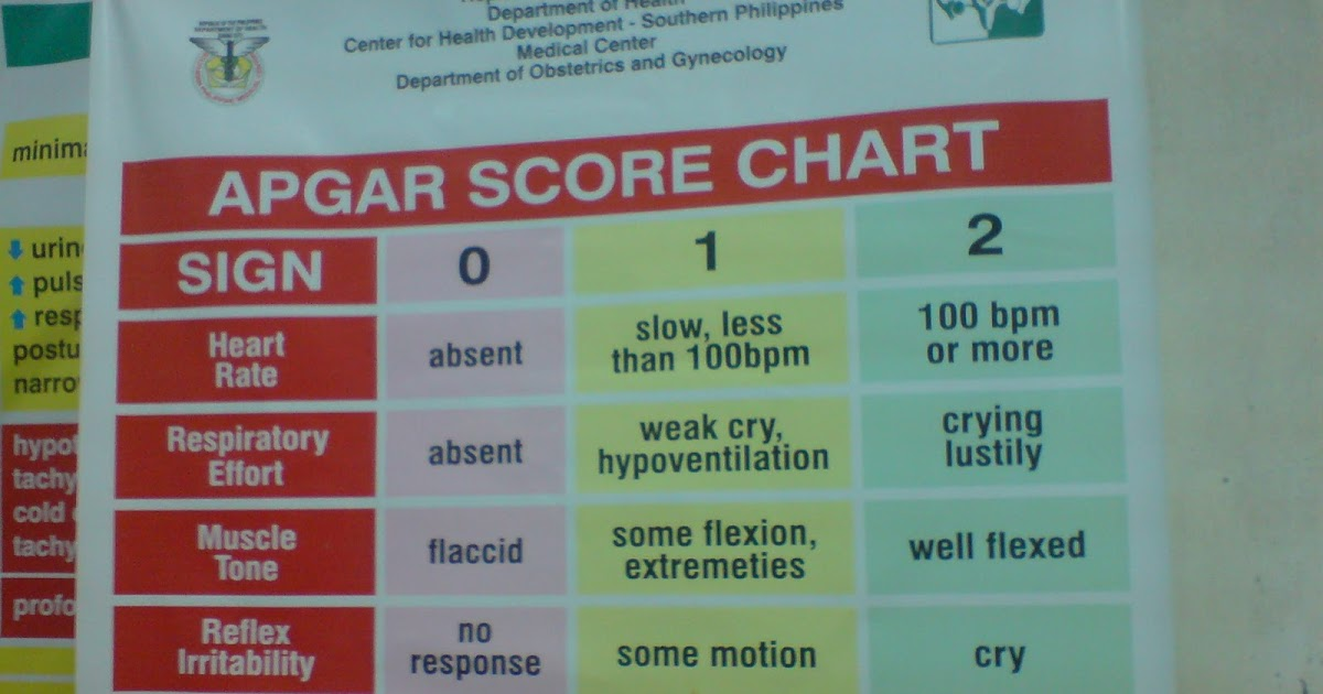 Societal Problems APGAR Score Chart
