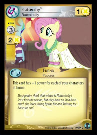 My Little Pony Fluttershy, Flutterholly Defenders of Equestria CCG Card