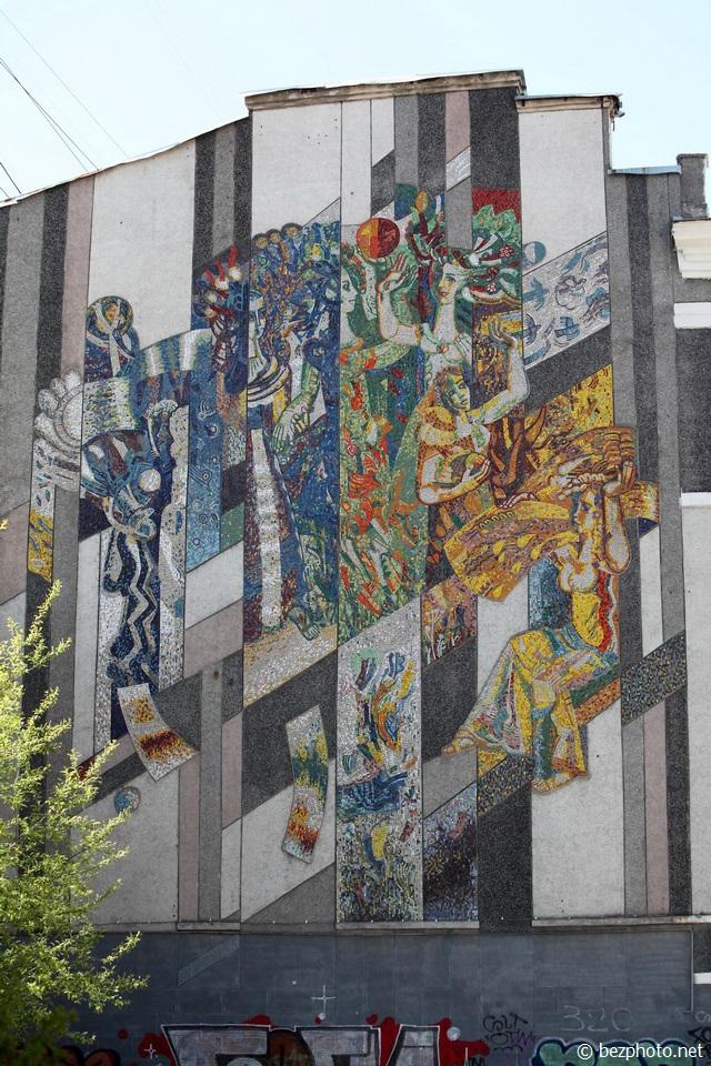 советские мозаики на зданиях