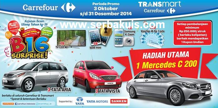 Promo Carrefour B16 Surprise Hadiah 7 Mobil, 16 iPad Mini, 16 TV LED, dll