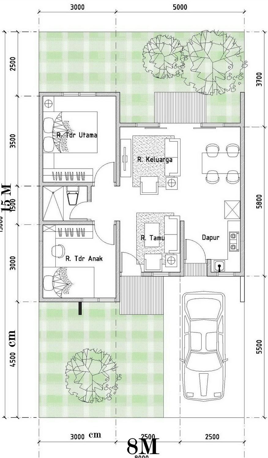 gambar denah rumah tipe 120 4