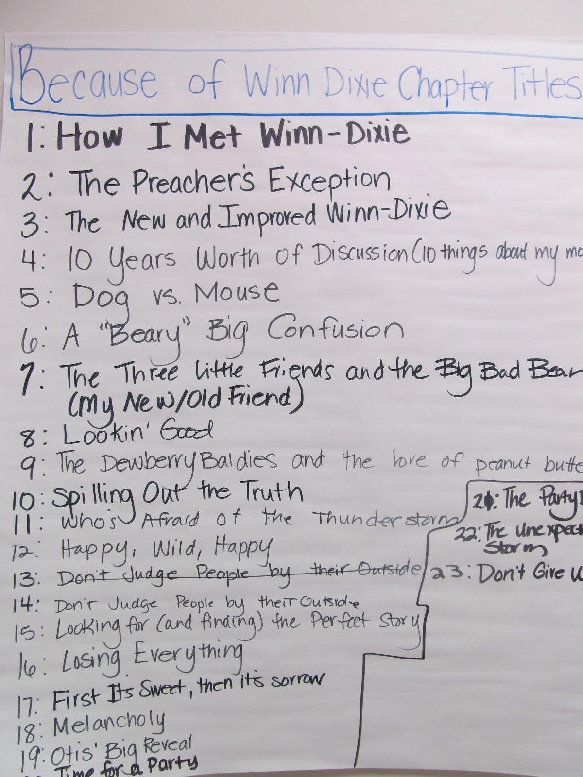 Mrs Montano S Blog Because Of Winn Dixie