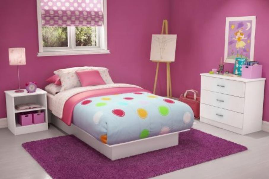 Furniture Minimalis Kamar Tidur Anak Perempuan Desain
