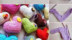 Crochet con amor: Corazones para San Valentin
