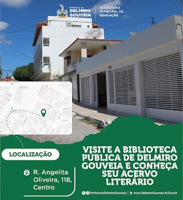 Visite a Biblioteca Pública de Delmiro Gouveia e conheça seu acervo literário
