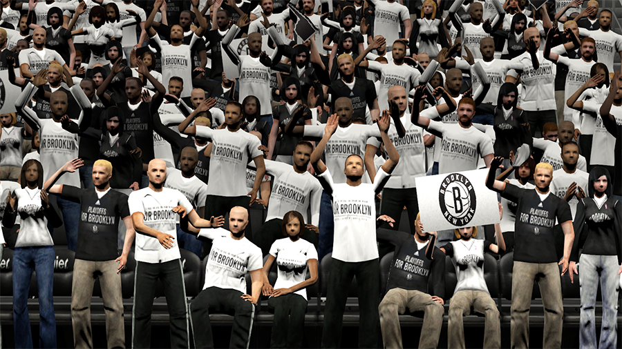 For Brooklyn Nets Crowd NBA 2K14