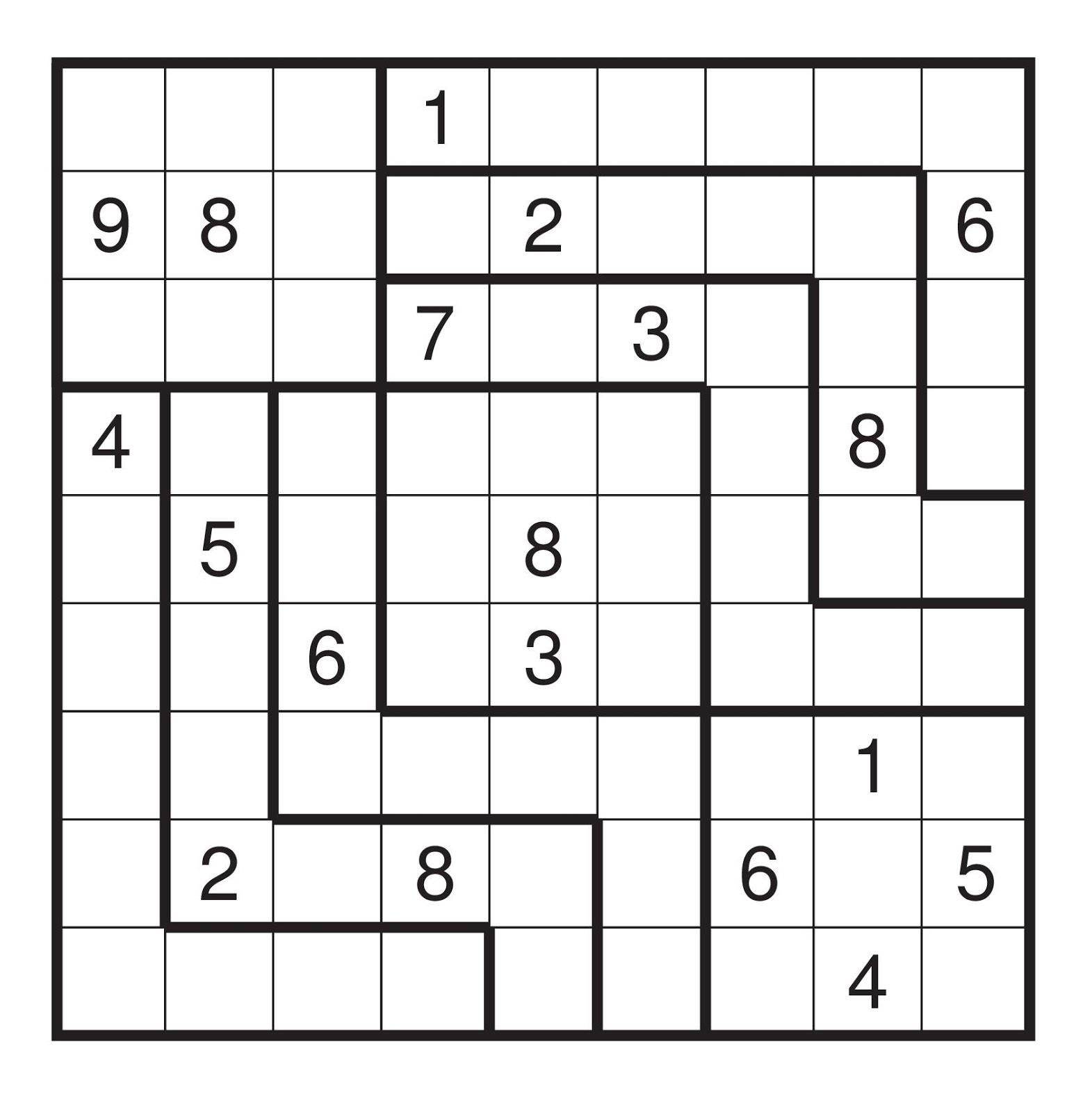 Irregular Sudoku