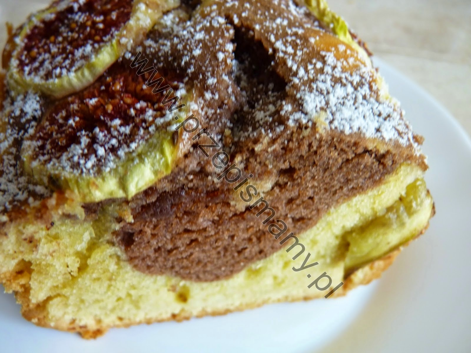 Ciasto ucierane z figami