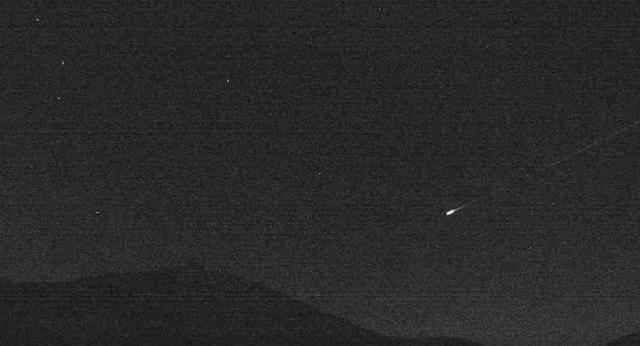 Bola de fuego grabada en Cañadas del Teide