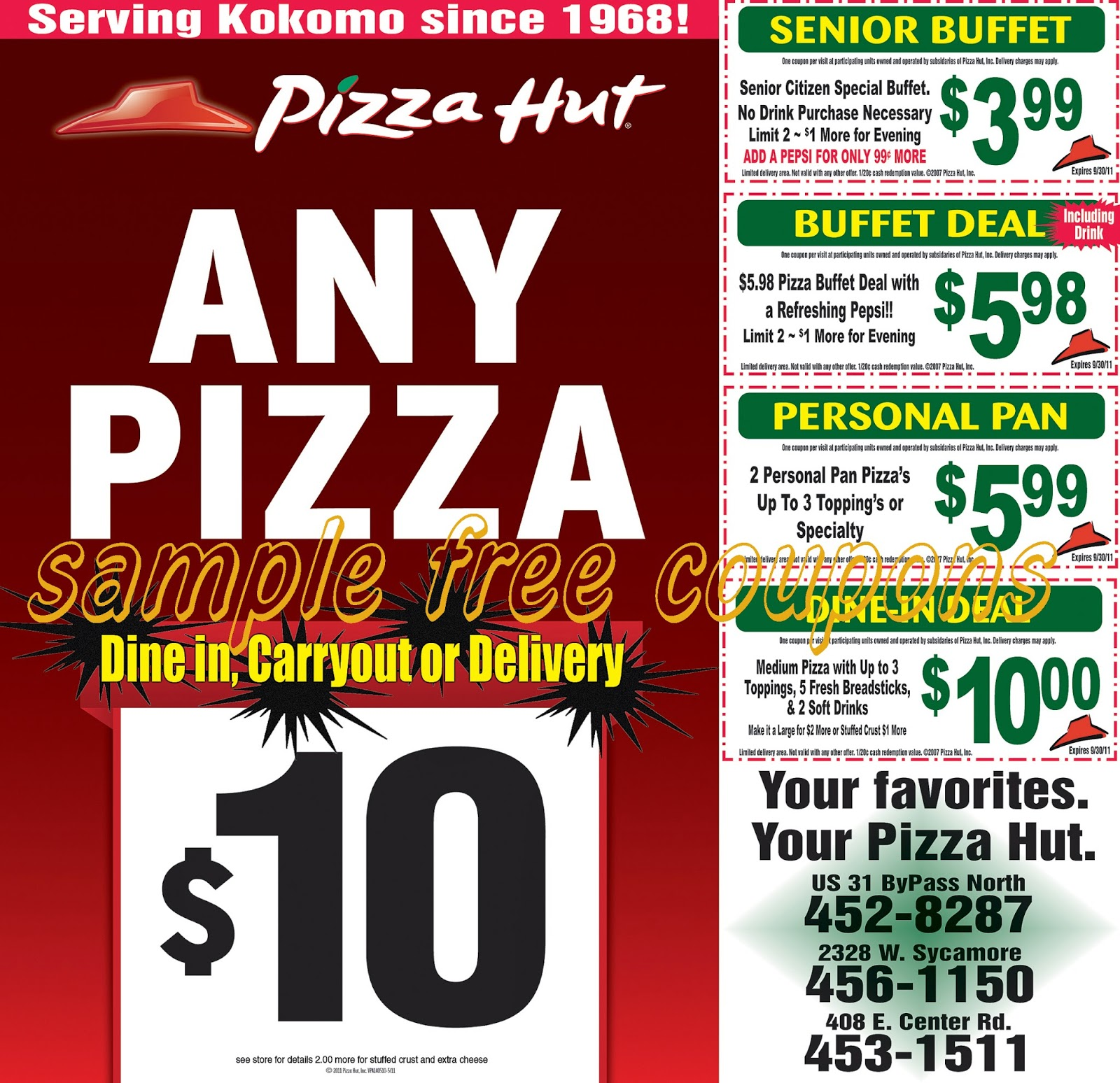 Pizza hut coupons be