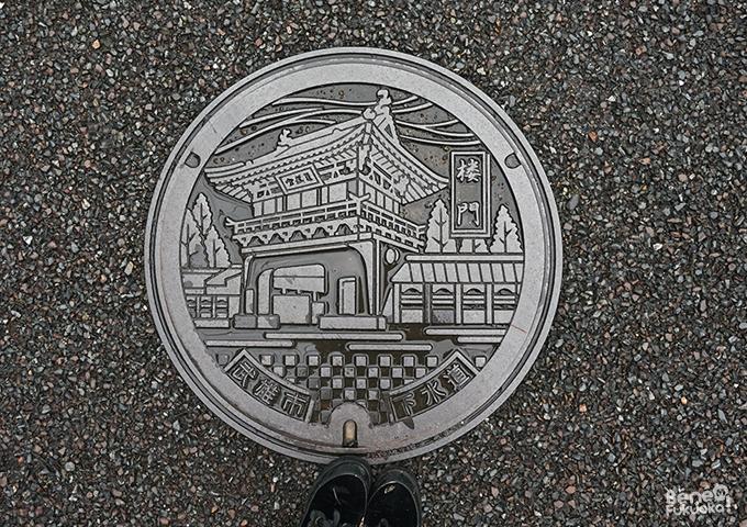 Manhole in Takeo Onsen, Saga