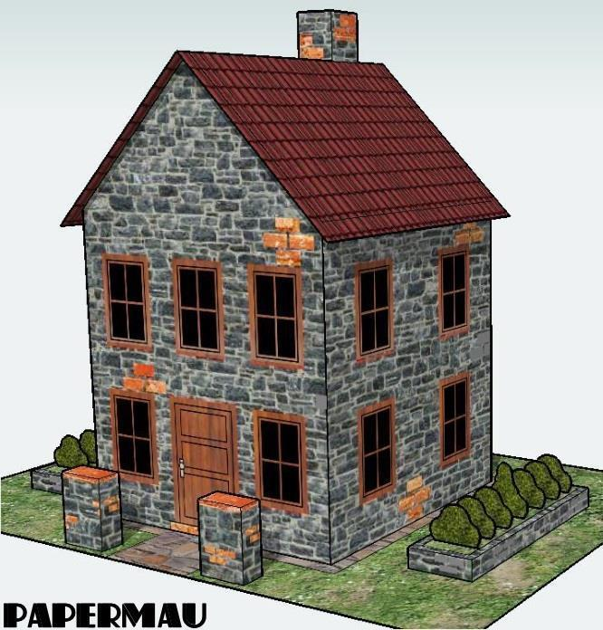 PAPERMAU: A Little Stone House In Only One Sheet Of Paper