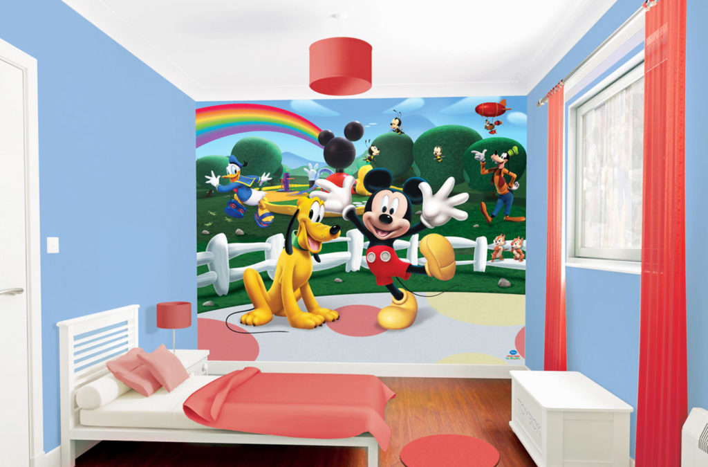 Paint The Room With Red Or Blue Or Purple As The Primary Color Or Paint The  Room With Black And White Stripes. The Color Itself Will Go So Well With  Mickey ...