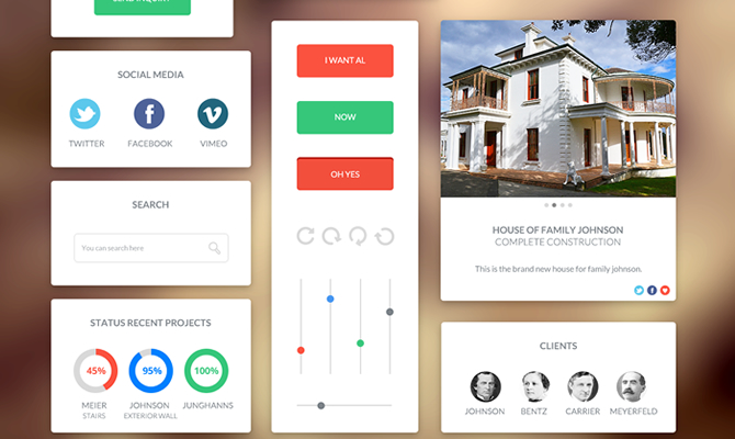 Download Trendy Latest Free UI Kits