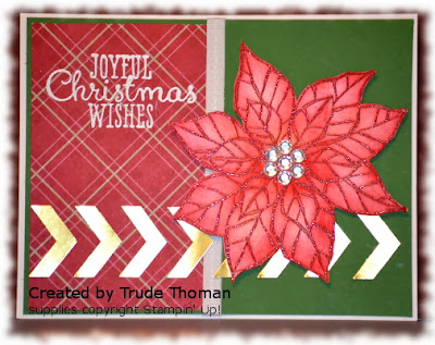 Stamp with Trude, Stampin' Up!, Joyful Christmas, Christmas card