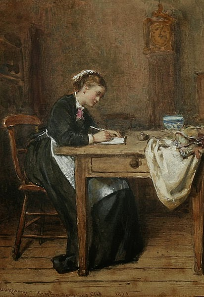Painting - woman writing letter