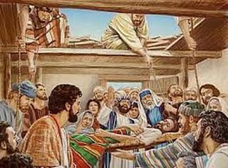 A salvação de um paralitico em Cafarnaum