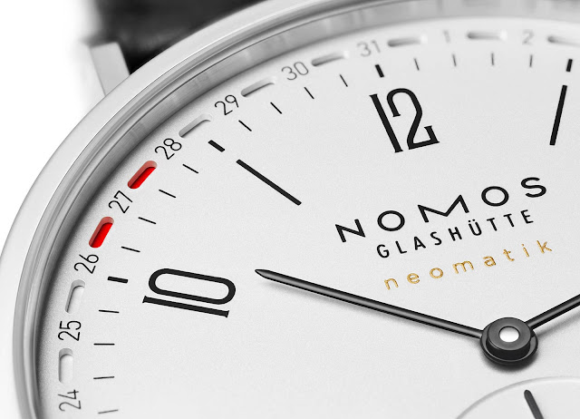 The new date indication of the Nomos Glashuette Tangente neomatik 41 Update