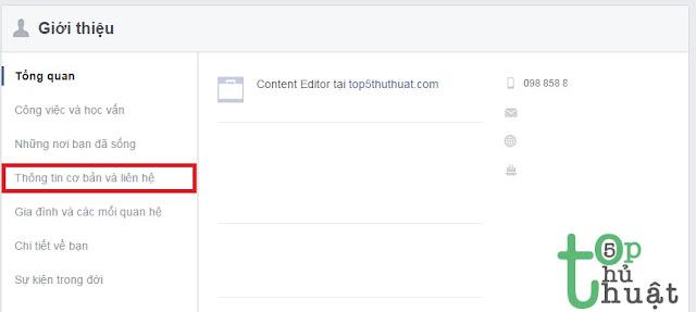 Chỉnh sửa quyền riêng tư Facebook