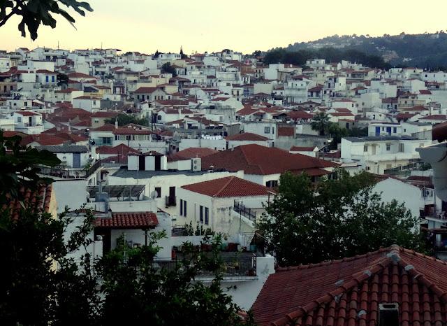 Skiathos Old Town Panorama