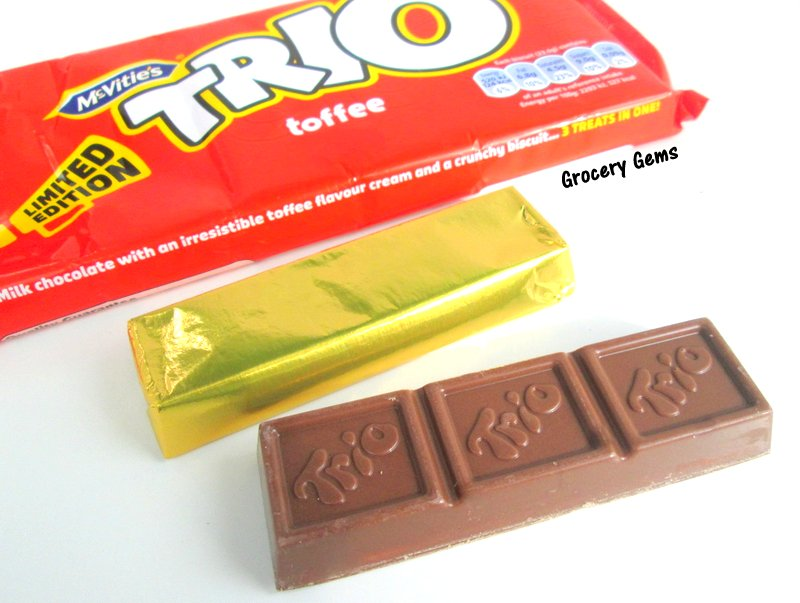 Grocery Gems Its Back Trio Toffee Chocolate Biscuit Bar