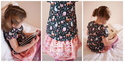 Abby's Road Trip Tunic Bunny Fun