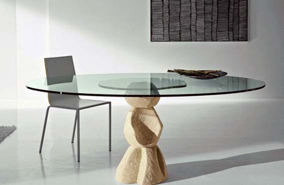 wooden table base for glass tables