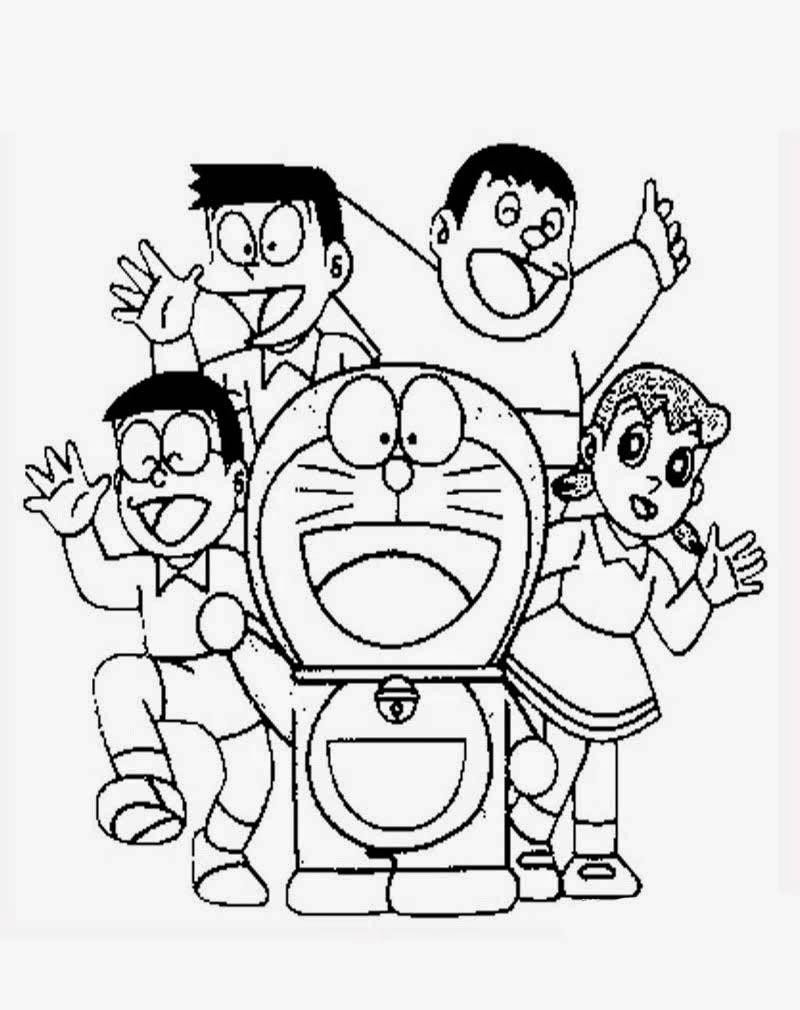 Gambar Nobita Untuk Mewarnai