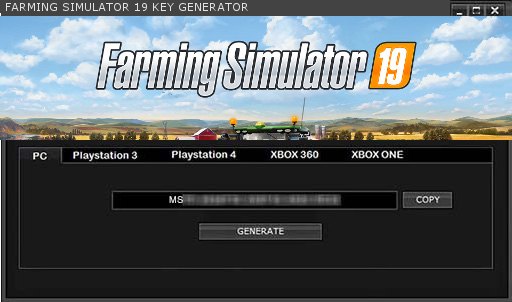 FARMING SIMULATOR 19 KEY GENERATOR KEYGEN FOR FULL GAME +
