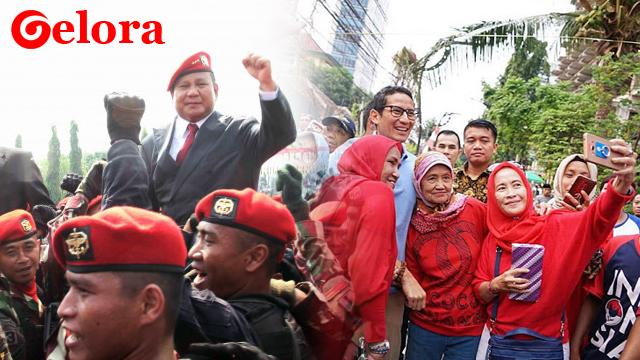 Baru Muncul, Tagar #PrabowoSandi Ungguli Tagar Petahana