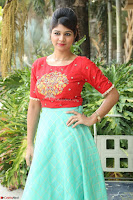 Lucky Shree Looks super cute in Bright Red Green Anarkali Dress ~  Exclusive 045.JPG