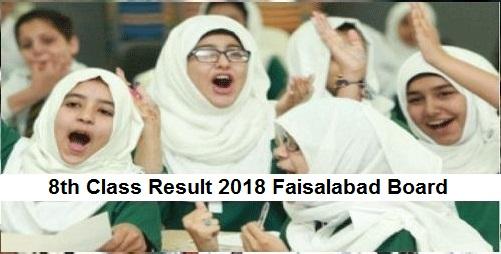 Faisalabad 8th Class Result 2019 - Faisalabad Board PEC Results