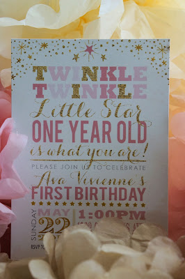 Twinkle, Twinkle Little Star, One Year Old is What You Are pink and gold first birthday party!!!