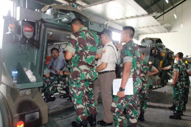 Tim Perhubungan Angkatan Darat Cek Alkom Tempur Tank di Sukoharjo