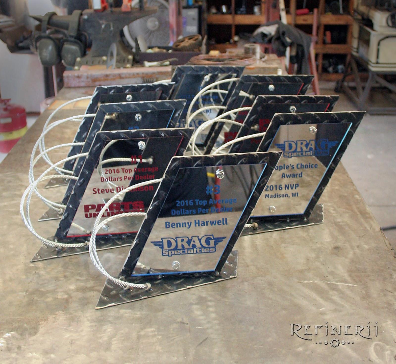 Refinerii Studios: Drag Race Custom Trophies with Diamond Plate