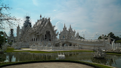 The famed White Temple to tourists, Wat Rong Khun to the locals