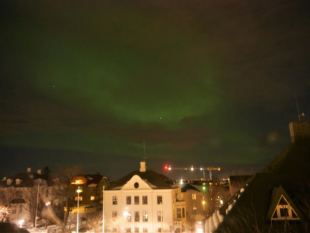 Auroras, Northern Lights, Reykjavik, Auroras from Airbnb