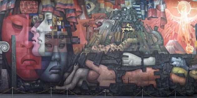 Detalle mural pinacoteca Concepción