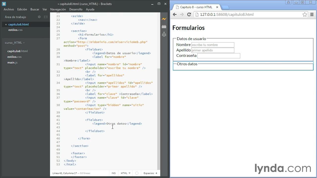 Portada del curso fundamentos de HTML