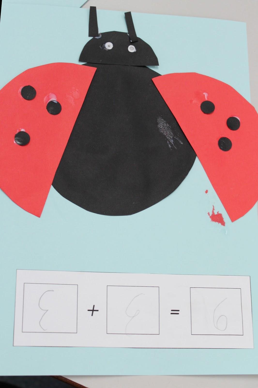 Addition Ladybugs Craftivity